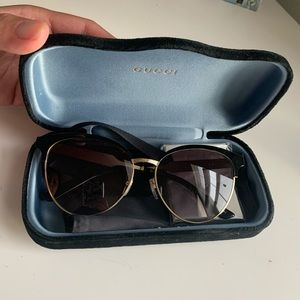 Gucci Black and Gold Clubmaster